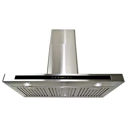 "AKDY 36"" GV-H503A90CF Stainless Steel Wall Range Hood Carbon Filter Included For Ventless/Ductless Options"