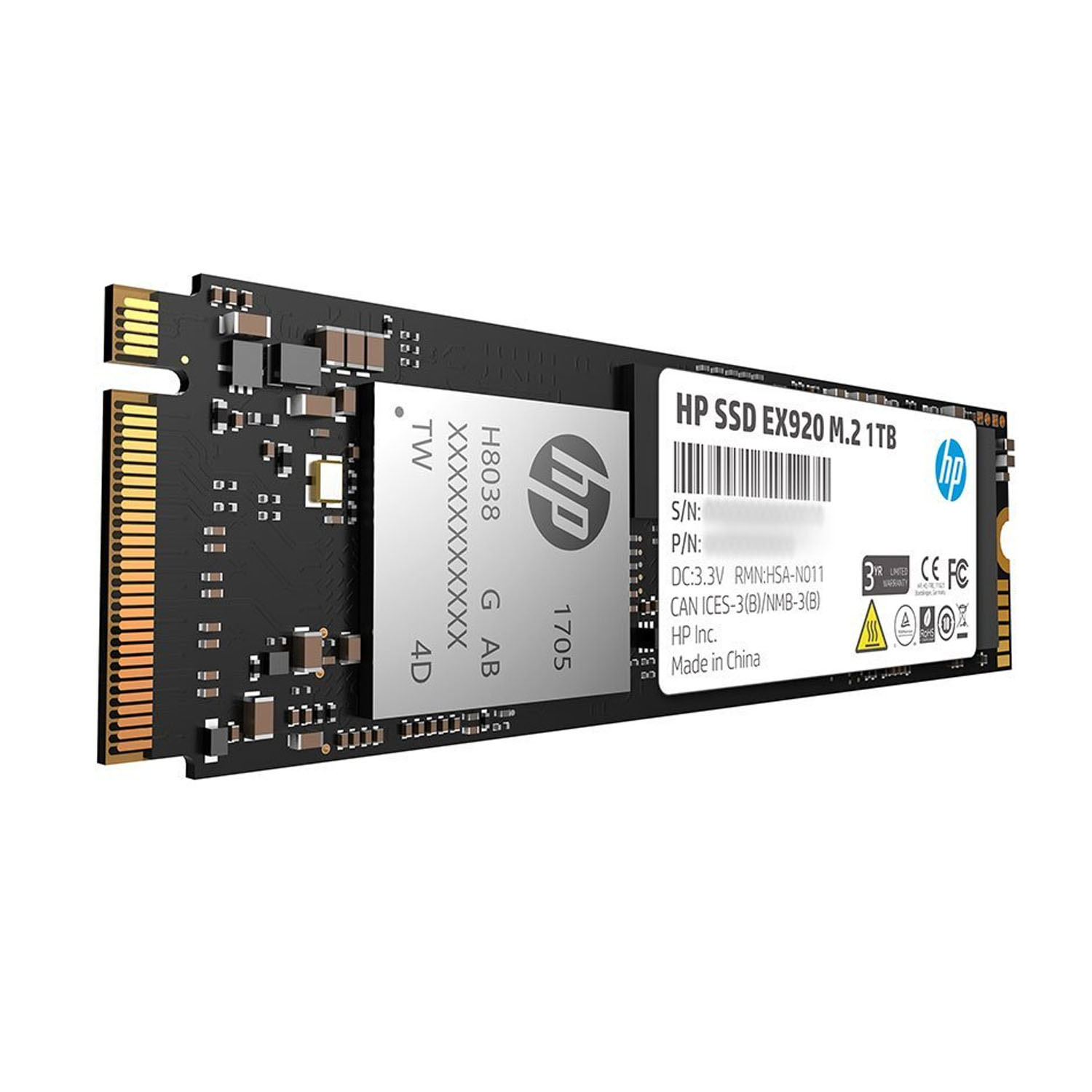 HP 2YY47AA#ABC EX920 M 2 1TB PCIe 3 0 x4 NVMe 3D TLC NAND Internal Solid  State Drive (SSD)