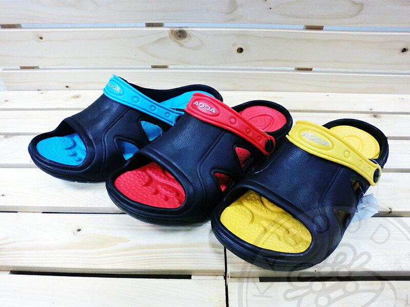 ADDA 62-401 2way 涼鞋 拖鞋 藍/紅/黃色款 男鞋