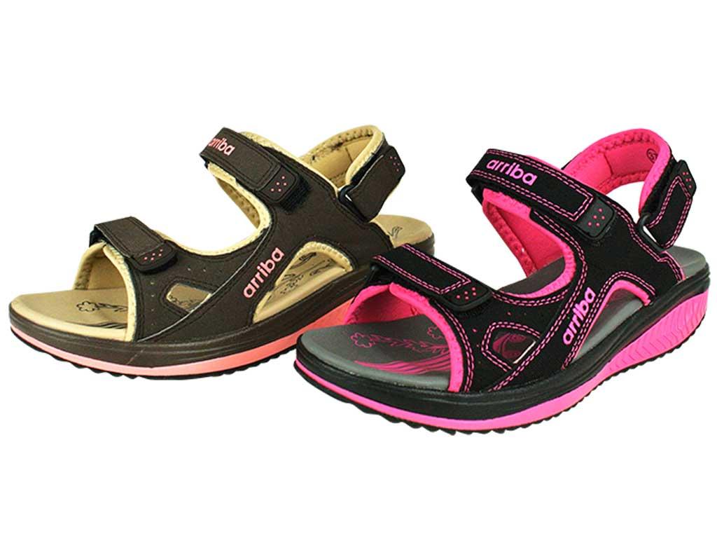 Arriba 62-422 涼鞋 拖鞋 咖啡色/黑桃色款 女鞋