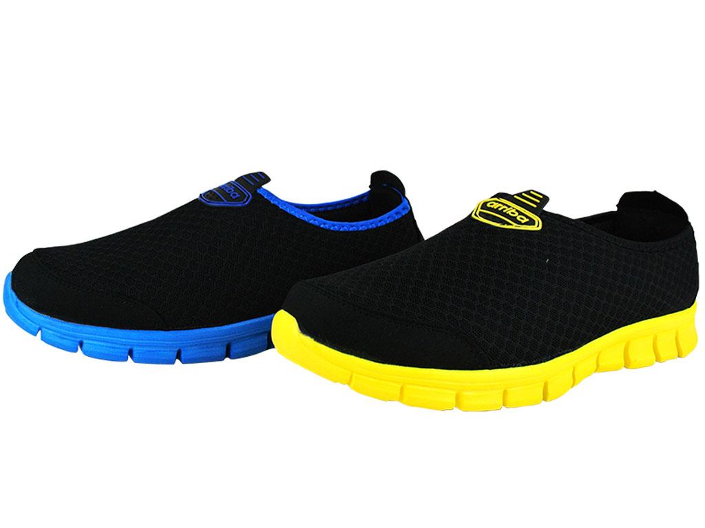 Arriba fa-452 休閒鞋 懶人鞋 便鞋 帆布鞋 黑黃/ 黑藍色款 男鞋