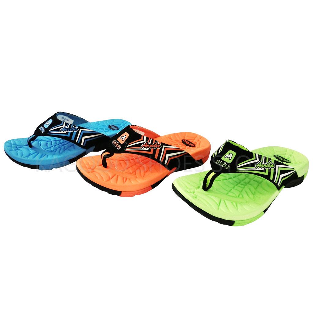 Arriba TD-6240 夾腳拖 拖鞋 橘 /藍 /綠 色款 童鞋