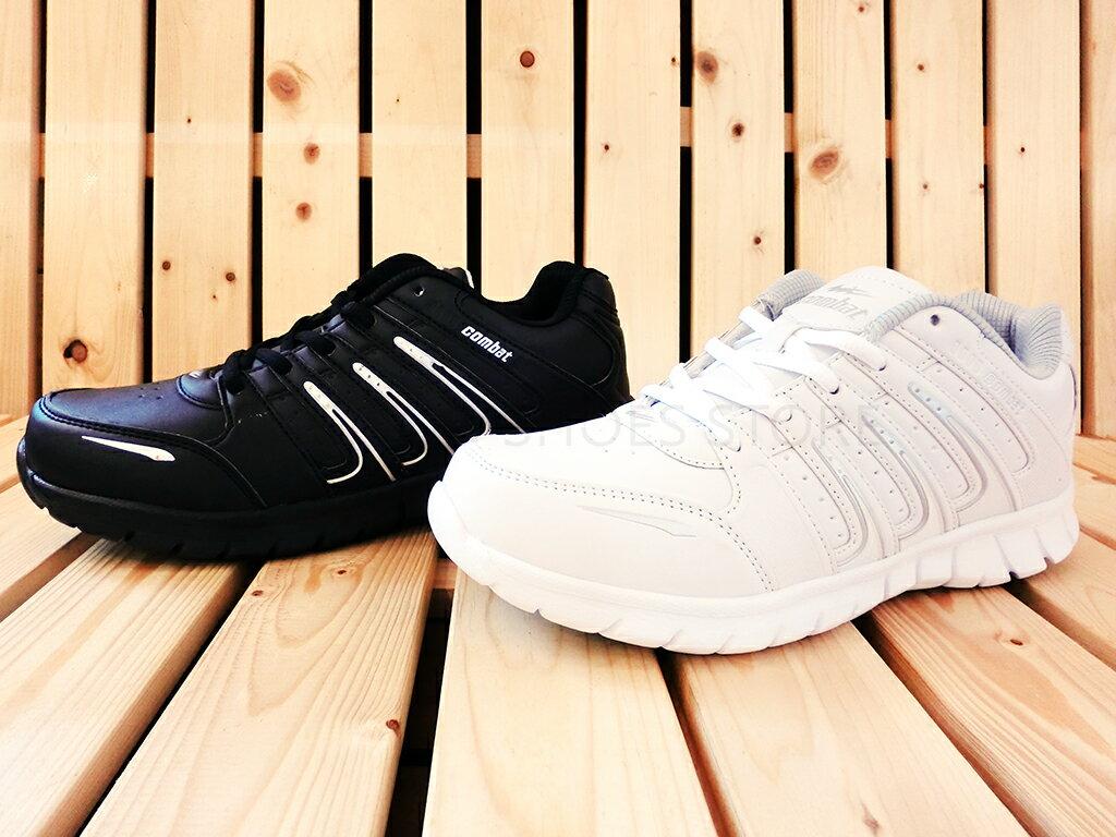 Combat 22-501 休閒鞋 慢跑鞋 運動鞋 黑/白色款 男鞋