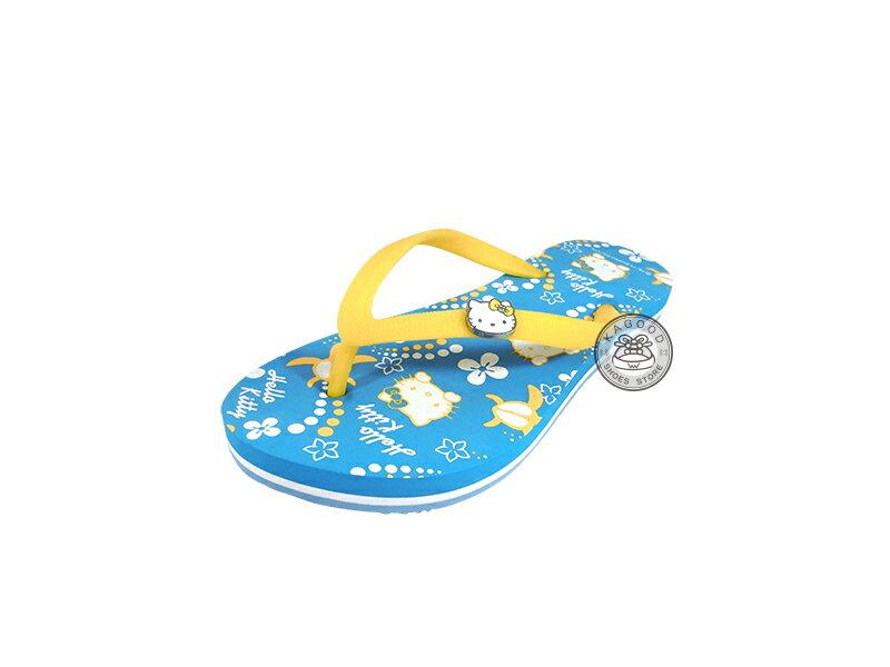 HELLO KITTY 凱蒂貓 914016 海洋風 人字拖 夾腳拖 海灘拖 拖鞋 藍色款