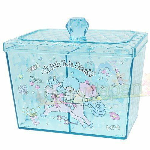 【真愛 】4930972481780 寶石菱格紋收納罐-TS 雙子星kikilala 飾品盒 收納盒 收納罐 置物罐 儲物罐 桌上收納