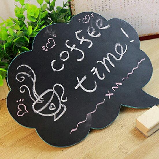 ♚MY COLOR♚懸掛式雲朵雙面黑板 迷你 粉筆 板擦 記事 兒童 塗鴉 磁鐵 辦公室【N44-2】