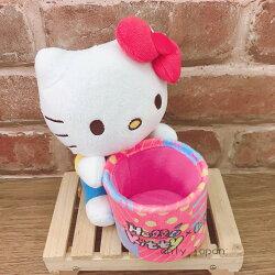 【真愛日本】18022600016 吸盤置物桶-KTWeiWei娃 三麗鷗 kitty 凱蒂貓 手機座 汽車用品