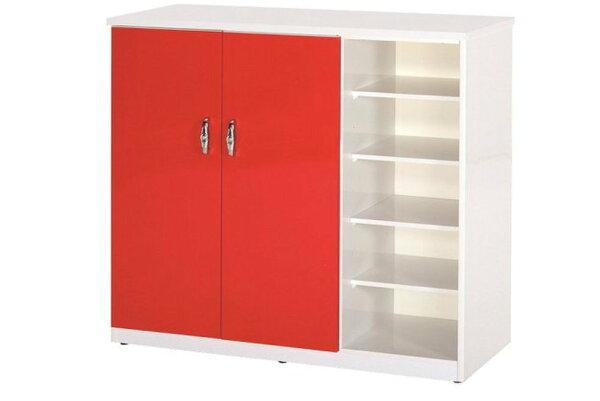 石川家居:【石川家居】860-01(紅白色)鞋櫃(CT-317)#訂製預購款式#環保塑鋼P無毒防霉易清潔