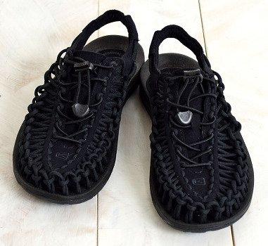 ├登山樂┤美國KEEN Uneek 女款拉繩溯溪編織涼鞋 黑#1014099