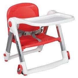【淘氣寶寶】英國 Apramo Flippa dining booster 可攜式兩用兒童餐椅(QTI)-紅色【贈送原廠兩用提袋+香草奶嘴】【總代理公司貨】
