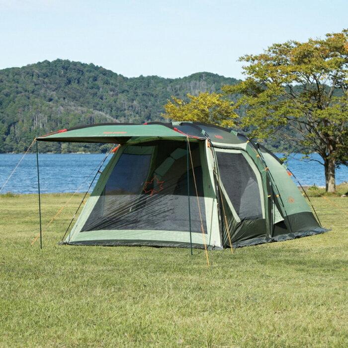 【露營趣】中和 LOGOS LG71805010 Panel綠楓雙背山五人帳XL 六人帳篷 5~6人帳 炊事帳 客?帳 一房一廳