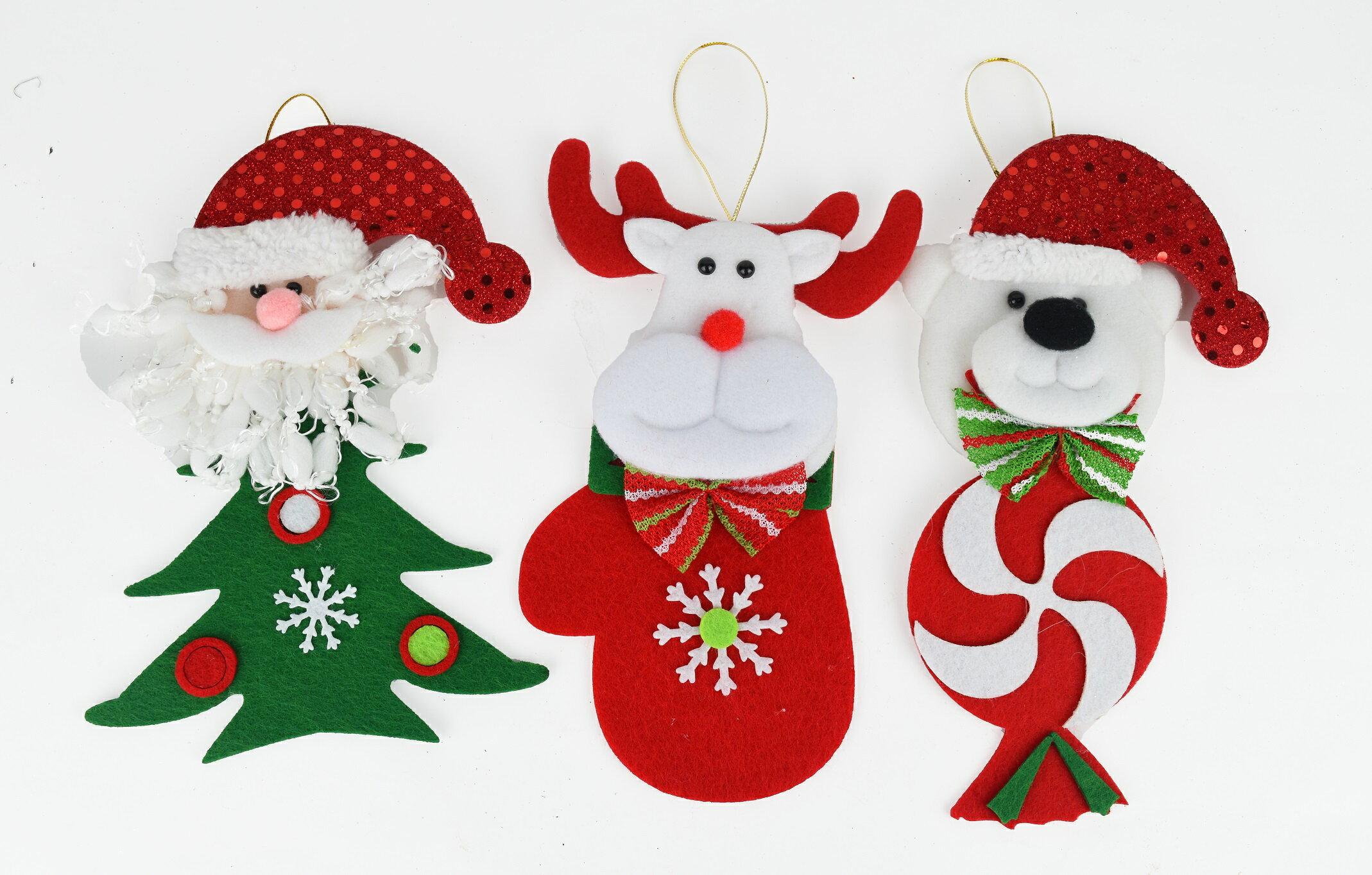 X射線【X457128】公仔聖誕造型吊飾(隨機出貨),聖誕節/交換禮物/掛飾/裝飾/吊飾/聖誕襪/禮物袋/糖果袋