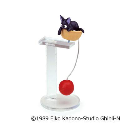【真愛日本】 17050300030 平衡晃晃擺飾-JIJI毛線球 宮崎駿 魔女宅急便 黑貓 奇奇貓 收藏 裝飾