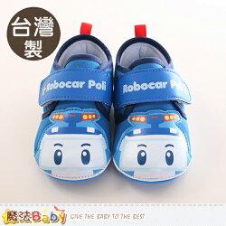 寶寶鞋 台灣製POLI波力正版止滑幼兒外出鞋 魔法Baby~sa71706