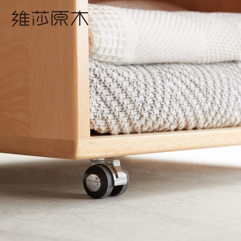 全實木兒童斗柜北歐多功能櫸木儲物柜現代簡約臥室收納置物柜♠極有家♠