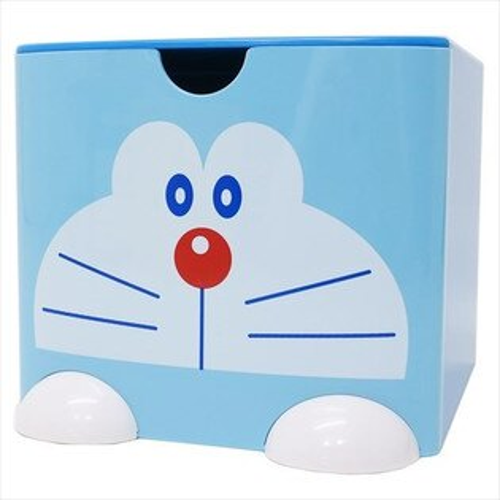 X射線【C443528】哆啦A夢Doraemon積木式迷你收納盒L-藍,雜物籃收納盒書架雜誌架桌上收納筆筒