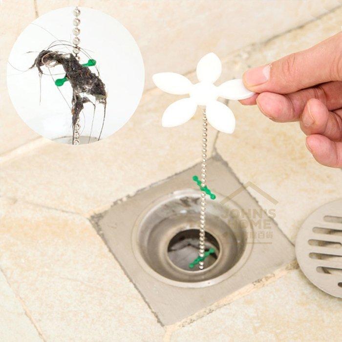 約翰家庭百貨》【CA252】小花造型排水管防堵器 水管清潔勾 水槽暢通維持器 下水道疏通器 毛髮清理器 毛髮清潔鉤