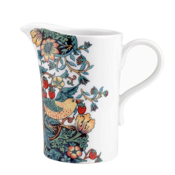 英國SPODE威廉莫里斯WilliamMorris聯名款-草莓鳥園0.7L水罐花瓶