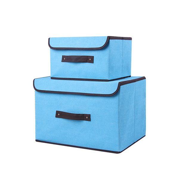 仿棉麻無紡布可折疊收納箱 多規格 帶蓋魔術貼 立體硬布盒 衣物置物箱 收納袋 整理箱 玩具箱【SA141】【618年中慶 】《約翰家庭百貨