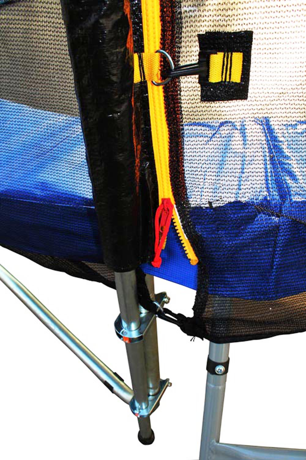 ExacMe 10 FT 4W Legs Trampoline w/ safety pad & Enclosure Net ALL-IN-ONE COMBO T10 5