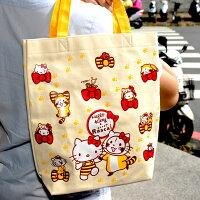凱蒂貓週邊商品推薦到Hello Kitty 與 小浣熊 帆布手提袋 日本正版 puchi rascal