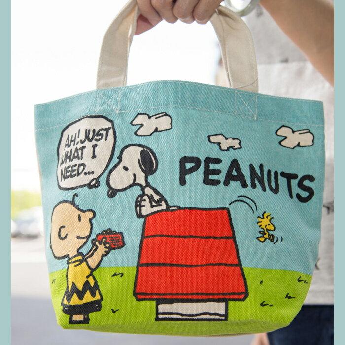 SNOOPY 史努比 帆布手提袋 餐袋 限定 品