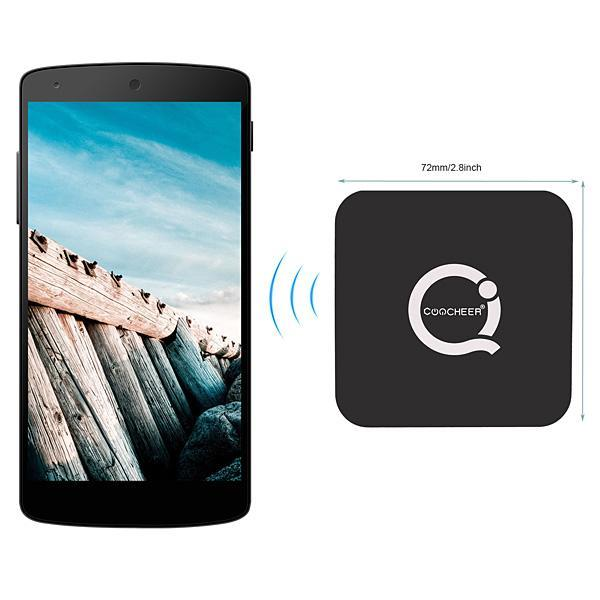 Wireless Charging Transmitter For Samsung and All Smart Devices-Black Color 0