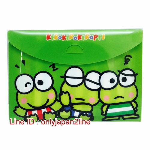 【真愛日本】17011200008橫式方便MEMO包-KR多表情   三麗鷗家族  Keroppi 大眼蛙  便條紙 信紙 收納夾