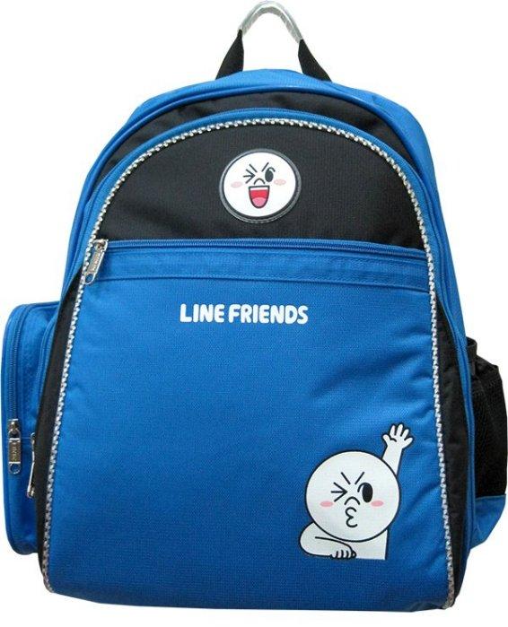 <br/><br/>  【禾宜精品】正版授權 Line Friends 成長型護脊書包 饅頭人 LI-5333-B [生活百貨]<br/><br/>
