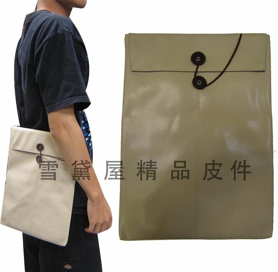 ~雪黛屋~Kawasaki 平板滑鼠墊套10平板套台灣製造品質保證護套滑鼠墊組可放A4紙防水皮革附長背帶HOEM046