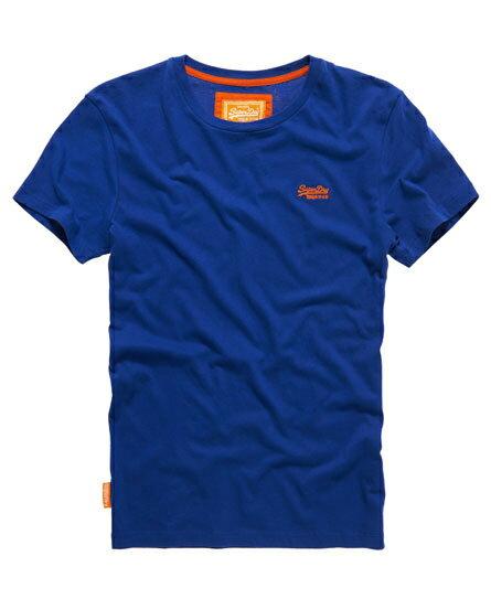 美國百分百【Superdry】極度乾燥 T恤 上衣 T-shirt 短袖 短T 經典 寶藍 logo 素面 S號 F235