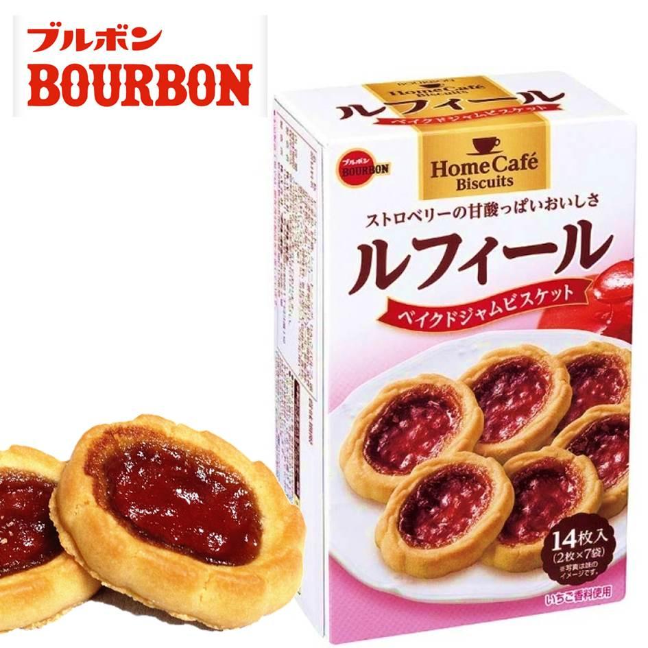 【Bourbon 北日本】期間限定 HomeCafe Biscuits草莓塔餅乾 14枚入 142g 日本進口餅乾 挑食屋®