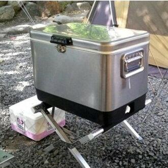 戶外露營超大加厚不銹鋼保冷冰桶 51L 不鏽鋼保冷3-5天(不含冰桶架)