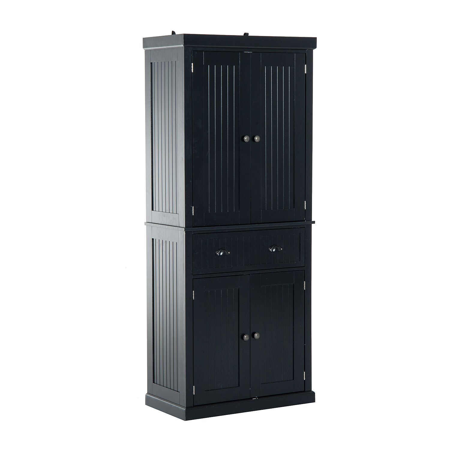 Aosom Homcom Large Free Standing Colonial Wood Storage