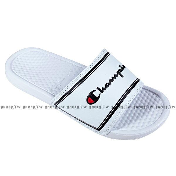 Shoestw【923250200】CHAMPION 拖鞋 運動拖鞋 白黑方框 男女尺寸都有 0