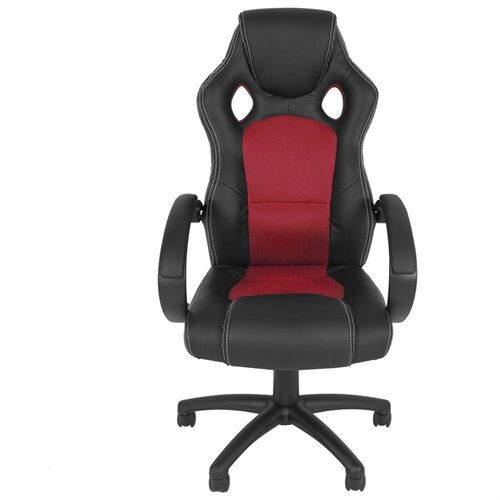 High Back Executive Racing Pu Leather Office Chair Red 1