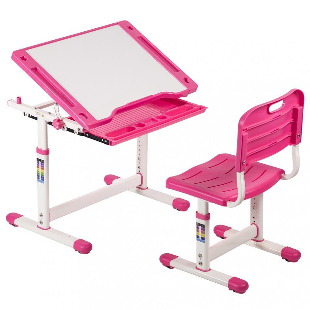 Pink Adjustable Childrenu0027s Desk Chair Set Child Study Desk Kids Study Table XLQ 2  sc 1 st  Rakuten.com & Factory Direct: Pink Adjustable Childrenu0027s Desk Chair Set Child ...