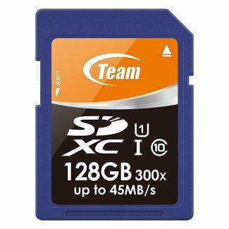 *╯新風尚潮流╭* TEAM十銓 128G 128GB SDXC C10 U1 300X TSDXC128GUHS01