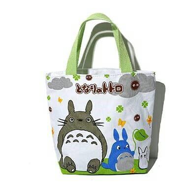 【超夯】萬能卡哇伊卡通圖案 手提袋/便當袋/收納袋(龍貓款)