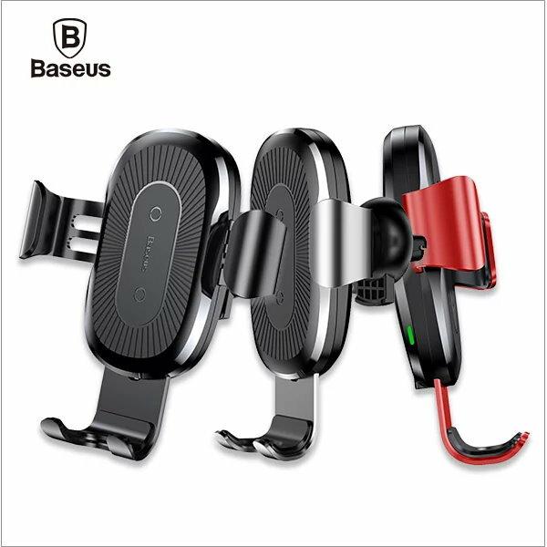 Baseus倍思重力車載支架(無線充)-黑色