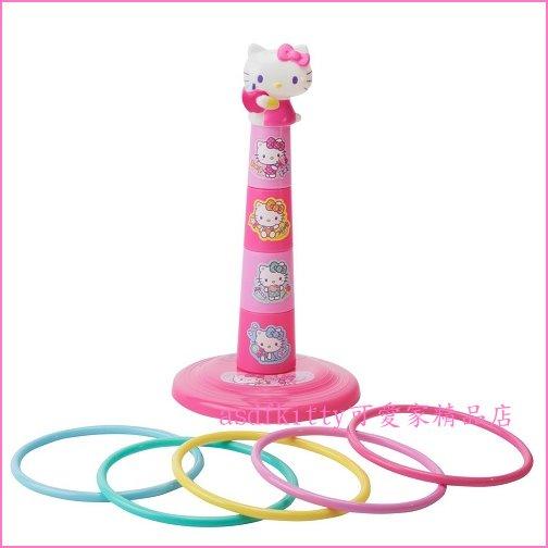 asdfkitty可愛家☆KITTY糖果套圈圈遊戲組/套圈圈玩具-日本正版商品