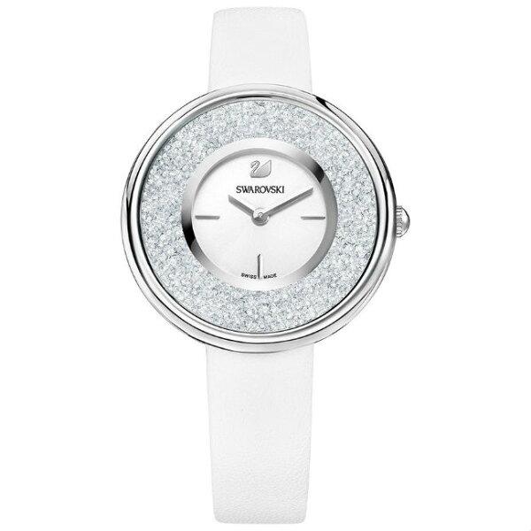 Swarovski施華洛世奇CrystallinePure真皮時尚腕錶5275046白面34mm