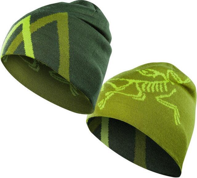 六折特賣 Arcteryx 始祖鳥 保暖帽/登山毛帽/滑雪 Arc Mountain 雙面保暖帽16442 蟒蛇綠/竹綠雙面Arc\