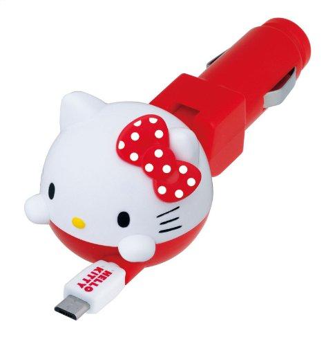 X射線【C864636】Hello Kitty Xperia車用充電器,充電器/車用充電器/3C/USB車充/手機車充