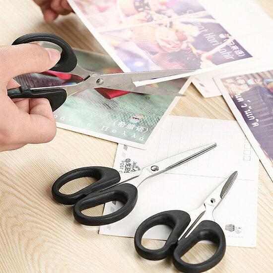 ♚MY COLOR♚不鏽鋼辦公剪刀(大) 學生 安全 剪紙 家用 廚房 手工 文具 卡片 兒童【N188】