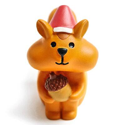 Decole聖誕擺飾 溫馨團員歡樂聖誕派對擺飾~貪吃松鼠 ^(聖誕節Concombre公仔
