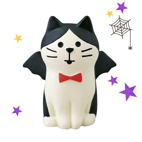日本Decole 萬聖派對遊行之夜-俏皮惡魔貓 萬聖節擺飾/玩偶 加藤真治公仔 Concombre ◤apmLife生活雜貨◢