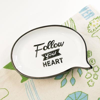 友誼長存對話框置物盤 (FOLLOW YOUR HEART) ◤apmLife生活雜貨◢