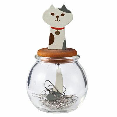 純真守護貓咪迴紋針收集罐 ◤apmLife生活雜貨◢