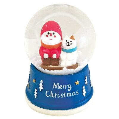 銀白聖誕雪花紛飛水晶球 ◤apmLife生活雜貨◢